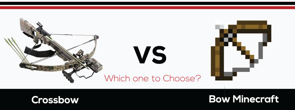 Crossbow vs. Bow Minecraft