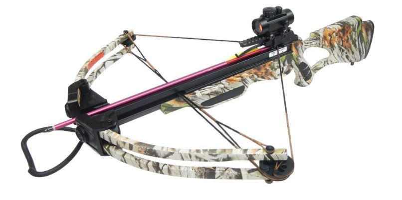175 lb Black/Camouflage Hunting Compound Crossbow Archery Bow